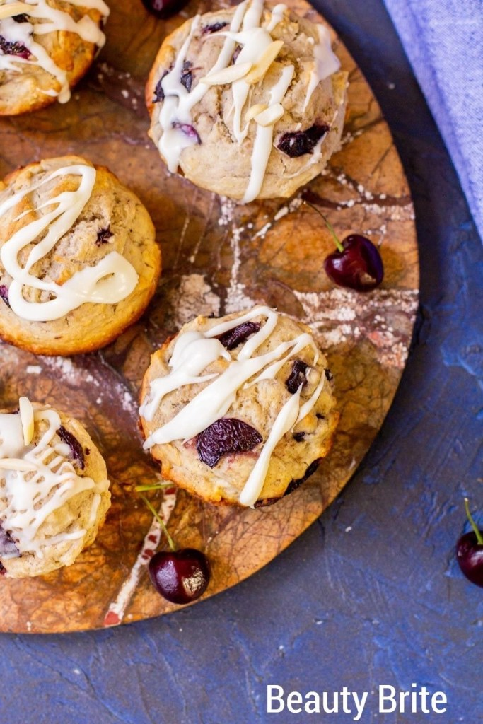 Cherry Almond Muffins from above
