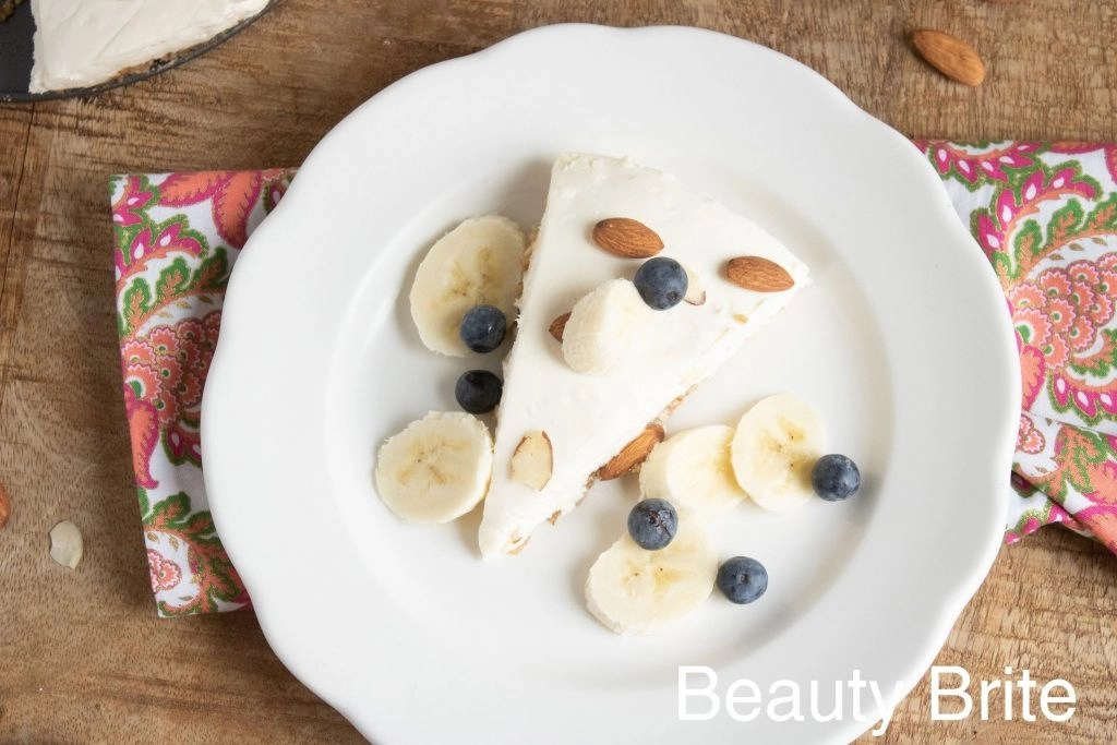 No Bake Almond Cheesecake With Toppings - social media