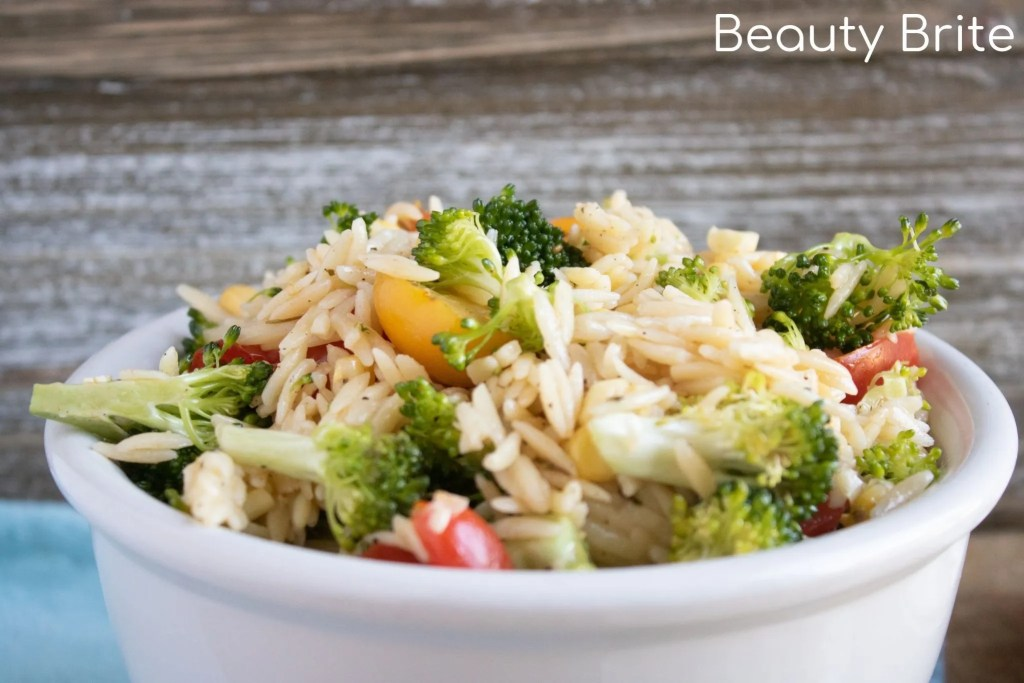 Orzo Summer Salad Upclose