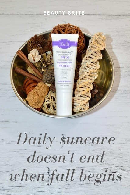 Daily Suncare Doesn't End When Fall Begins
