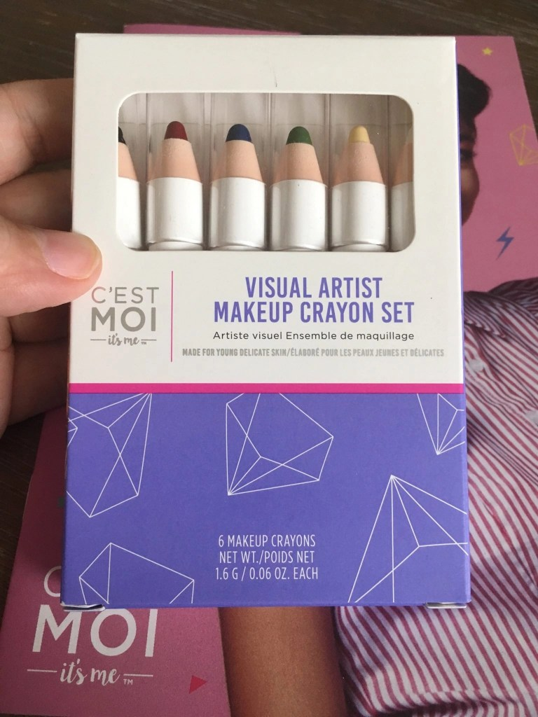 Visual Artist Makeup Crayon Set - Front of Packaging