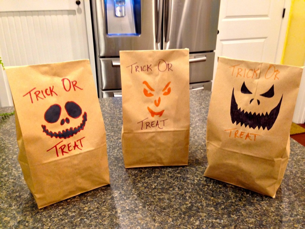 Halloween Activity - Stencil Treat Bags