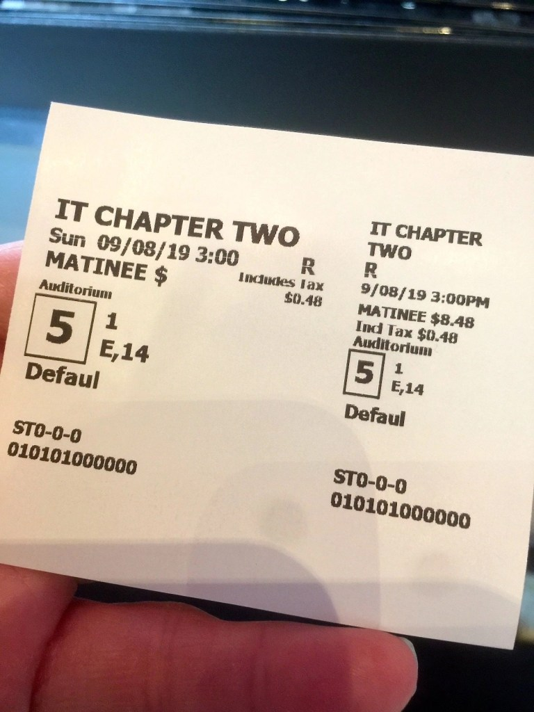 IT: Chapter 2 movie ticket stub