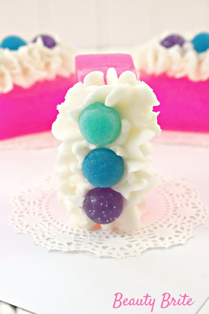 Bubblegum With Frosting Soap propped up