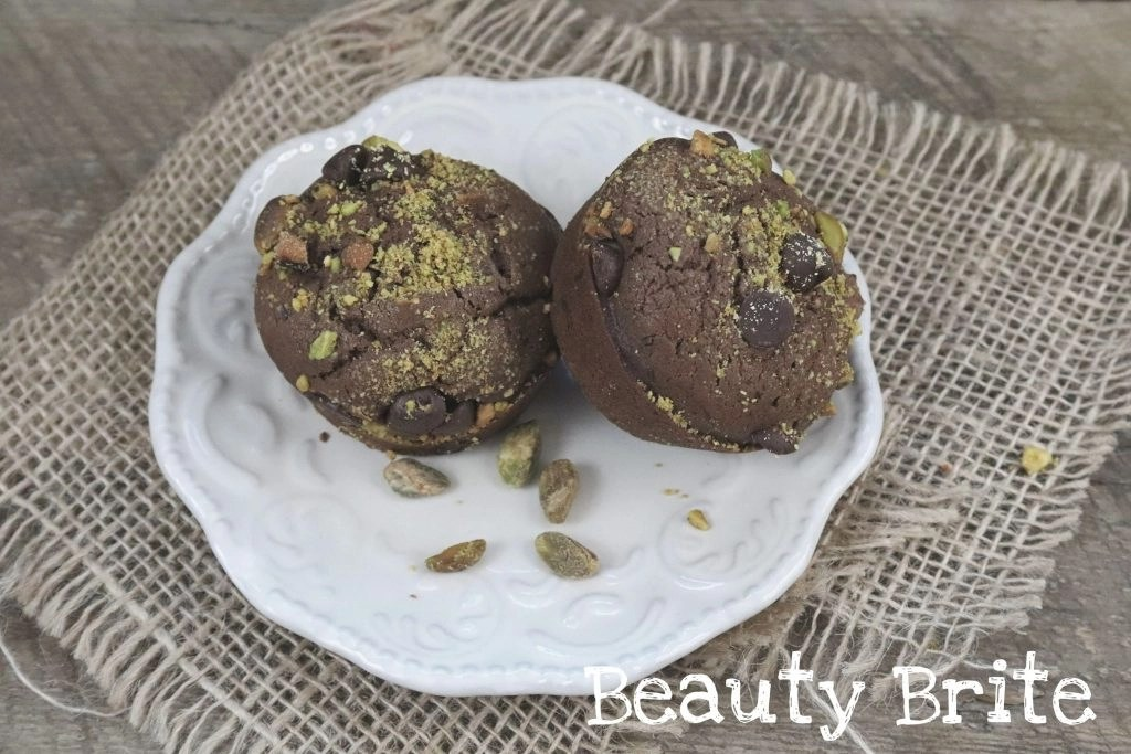 Double Chocolate Chip Pistachio Muffins - social media