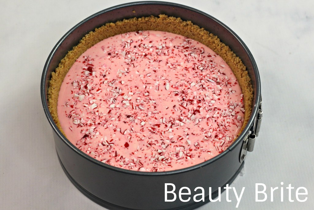 Instant Pot Candy Cane Cheesecake IP Cheesecake Step 5