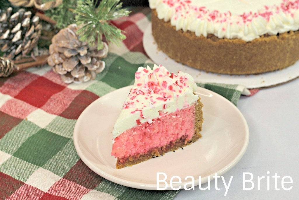 Instant Pot Candy Cane Cheesecake - social media
