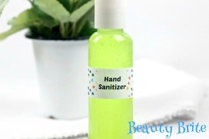 Hand Sanitizer Gel with plant