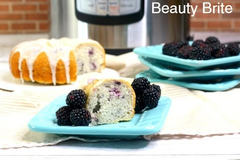 Instant Pot Blackberry Bundt Cake - social media