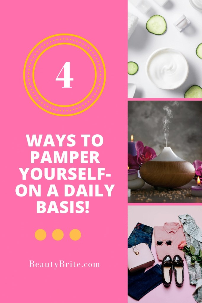 4 Ways To Pamper Yourself- On A Daily Basis! What...wait...Pamper Yourself!  Yes, I know Mother's Day is this weekend, BUT shouldn't we be pampered all the time?  Now to get your other half and kids on board might be a struggle, but no worries- all you need is YOU and a couple of items.  But I'll walk you through all that.