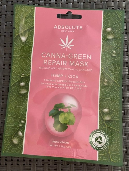 Absolute Canna-Green Repair Mask Hemp + Cica