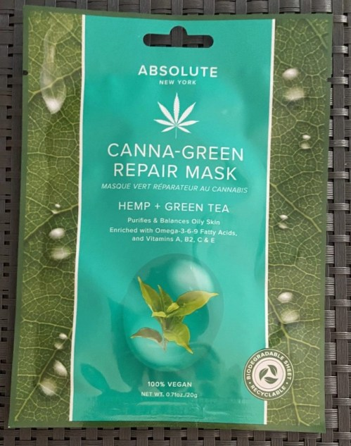 Absolute Canna-Green Repair Mask Hemp + Green Tea