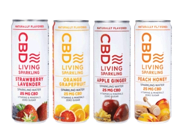 CBD Living Sparkling Waters - Photo Credit CBD Living