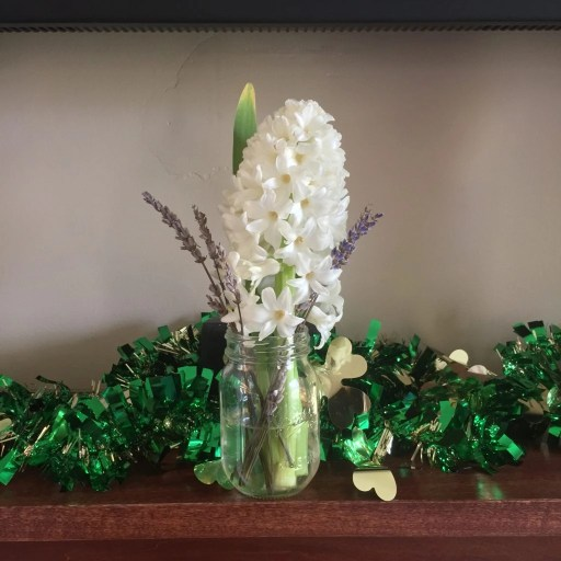 mantle floral/holiday arrangement