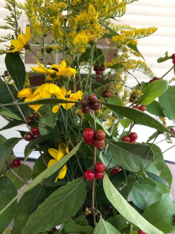 Flowering Weed And Berries Fall Bouquet