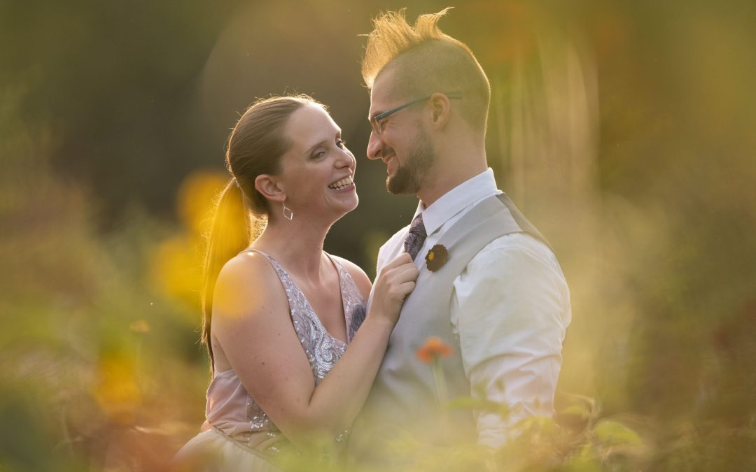 Emily & Brad's Colorful Handcrafted Wedding