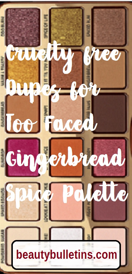 too faced gingerbread dupe in