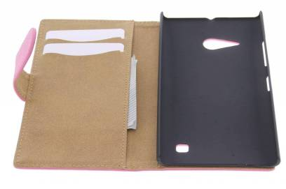 roze-effen-booktype-hoes-voor-de-nokia-lumia-735