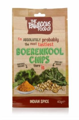 The Rawlicious Food Boerenkool Chips Indian Spice