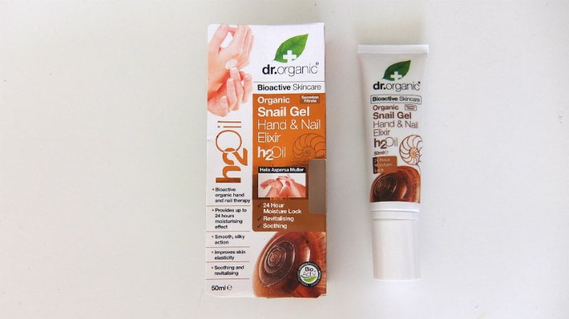 dr. organic_snail _gel _hand nail elixer