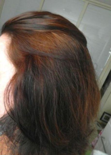 rood zwart haar