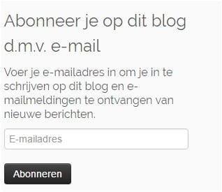 abbonneer je op blog