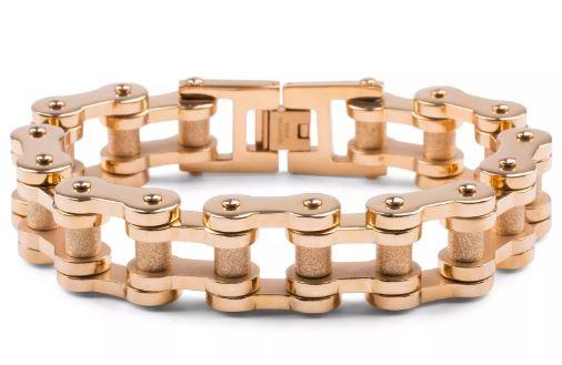 Gouden Biker Kettingarmband van Chirurgisch Staal