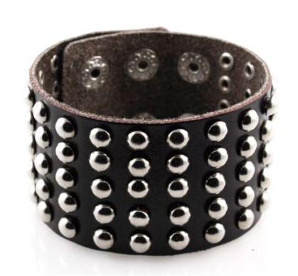 TRENDHIM - Brede Bruine Rocker Armband