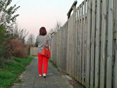 Duifhuizen Leather Collection handtas orange