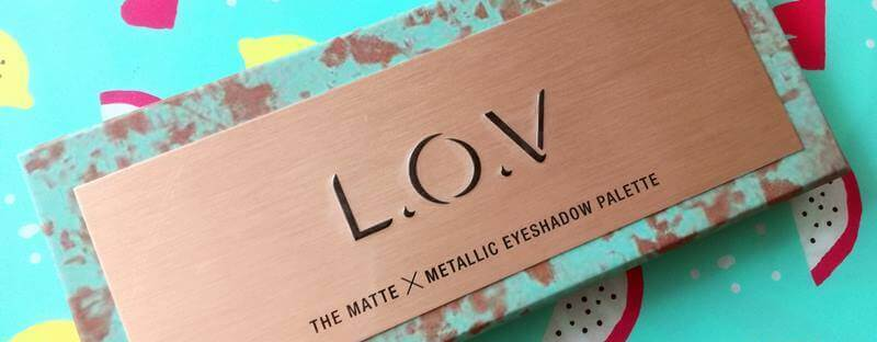 palette L.O.V The Matte X Metallic eyeshadow