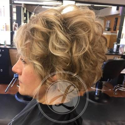 short volume hair cut and beach wave style