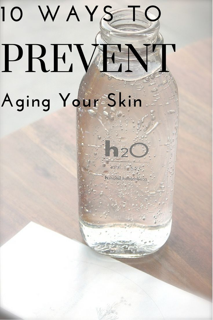 Top 10 Ways You're Aging Your Skin - Water