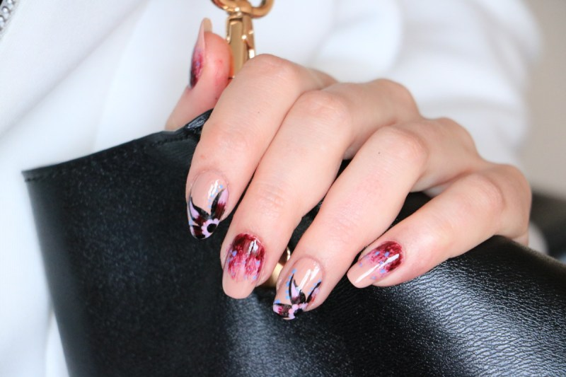 Ombre Flower Nail Tutorial