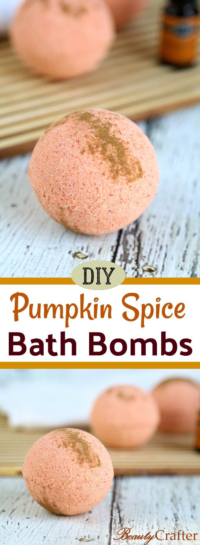 Pumpkin Spice Bath Bombs DIY Recipe - a great diy gift for that #pumpkinspice lover in your life. #bathbombs #crafts