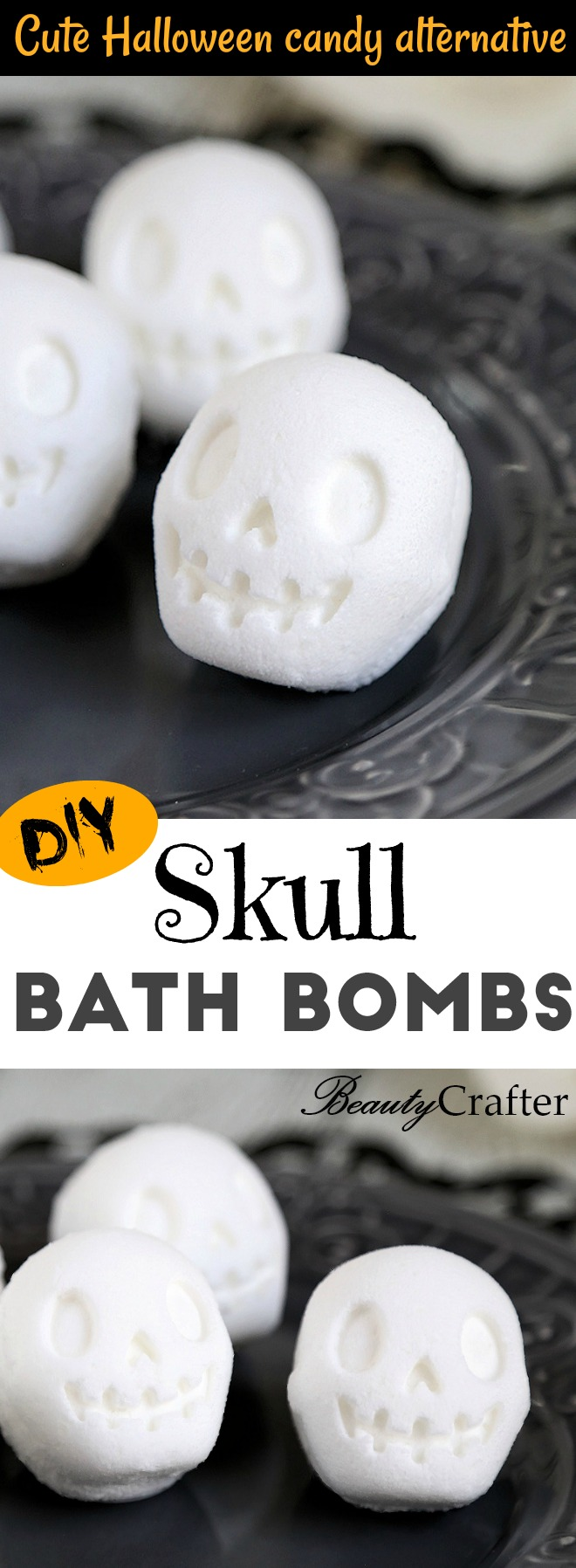 Skull Bath Bomb DIY Halloween Bath Bombs Halloween Craft great for kids