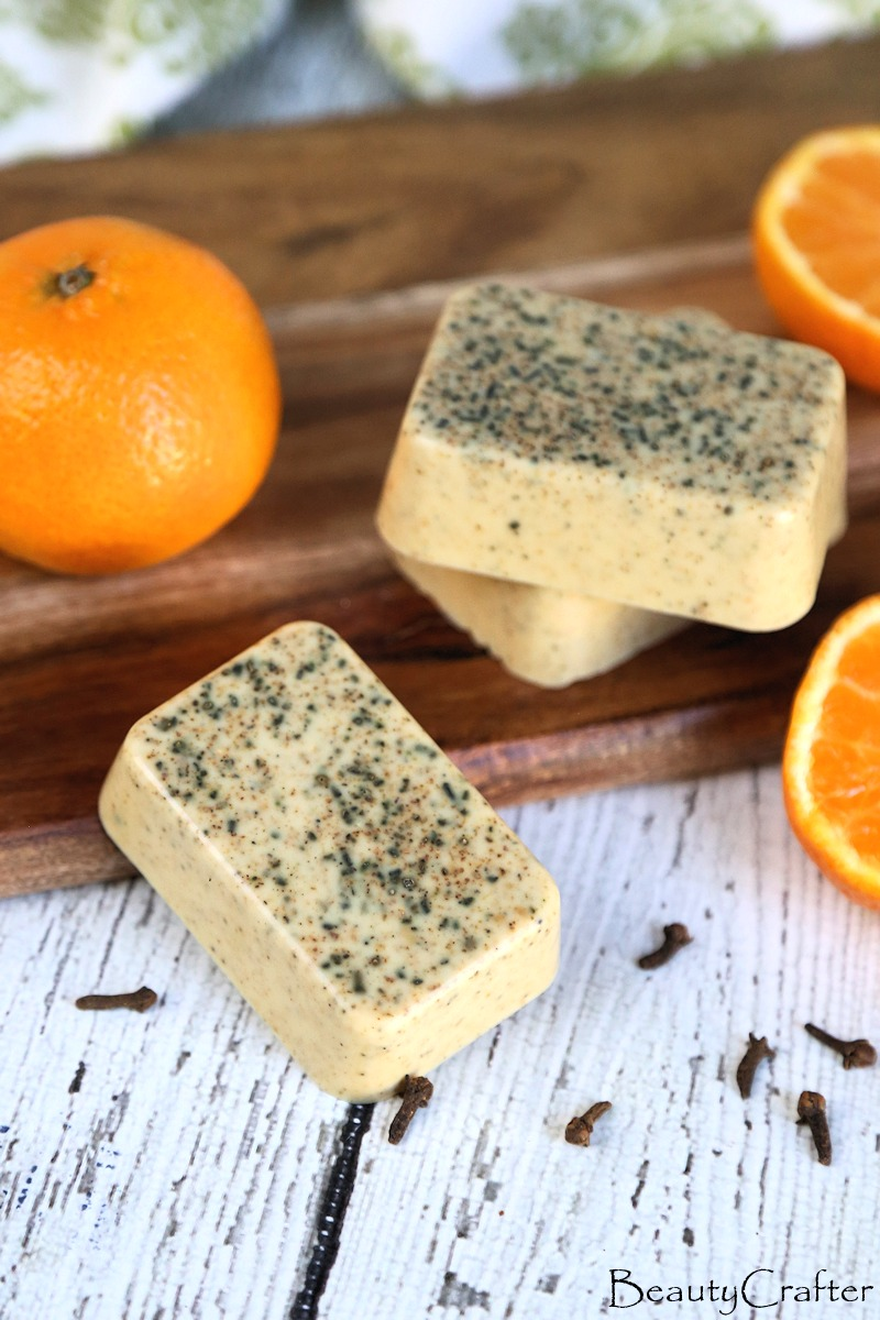 easy melt and pour soap with orange cloves