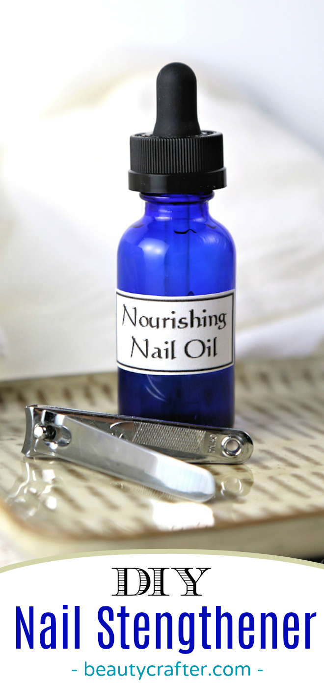 Nail Strengthener DIY,  Nail oil recipe for strong nails. Cure brittle weak nails! #beauty #nails #naturalremedies #healthyliving