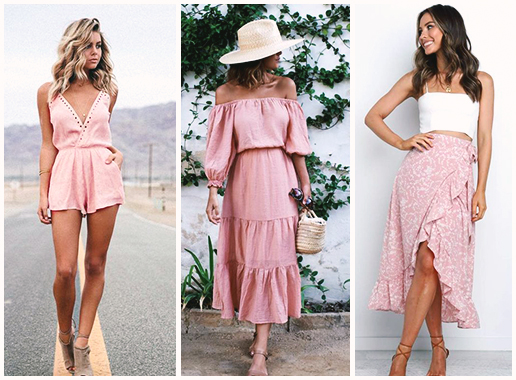 Blush Pink Summer Outfit Colors