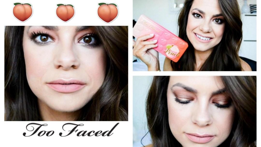 Вариант макияжа с косметикой из коллекии Too Faced - Sweet Peach Collection Spring 2017: