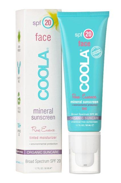 """COOLA SUNCARE - Солнцезащитный тонирующий крем для лица с минералами """"Розовая Эссенция"""" (SPF20)"""