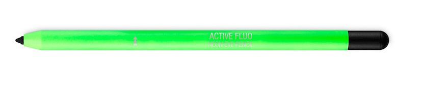 Черный карандаш для глаз неоновый - KIKO ACTIVE FLUO NEON EYE PENCIL
