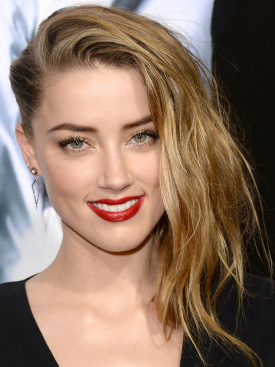 Amber Heard Fakes an Undercut and Looks SuperGorgeous