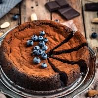 TORTA al CIOCCOLATO e MANDORLE vegan senza glutine senza farina | gluten-free paleo FLOURLESS VEGAN CHOCOLATE CAKE