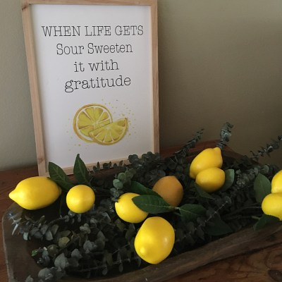 Lemony Fresh Summer Decor