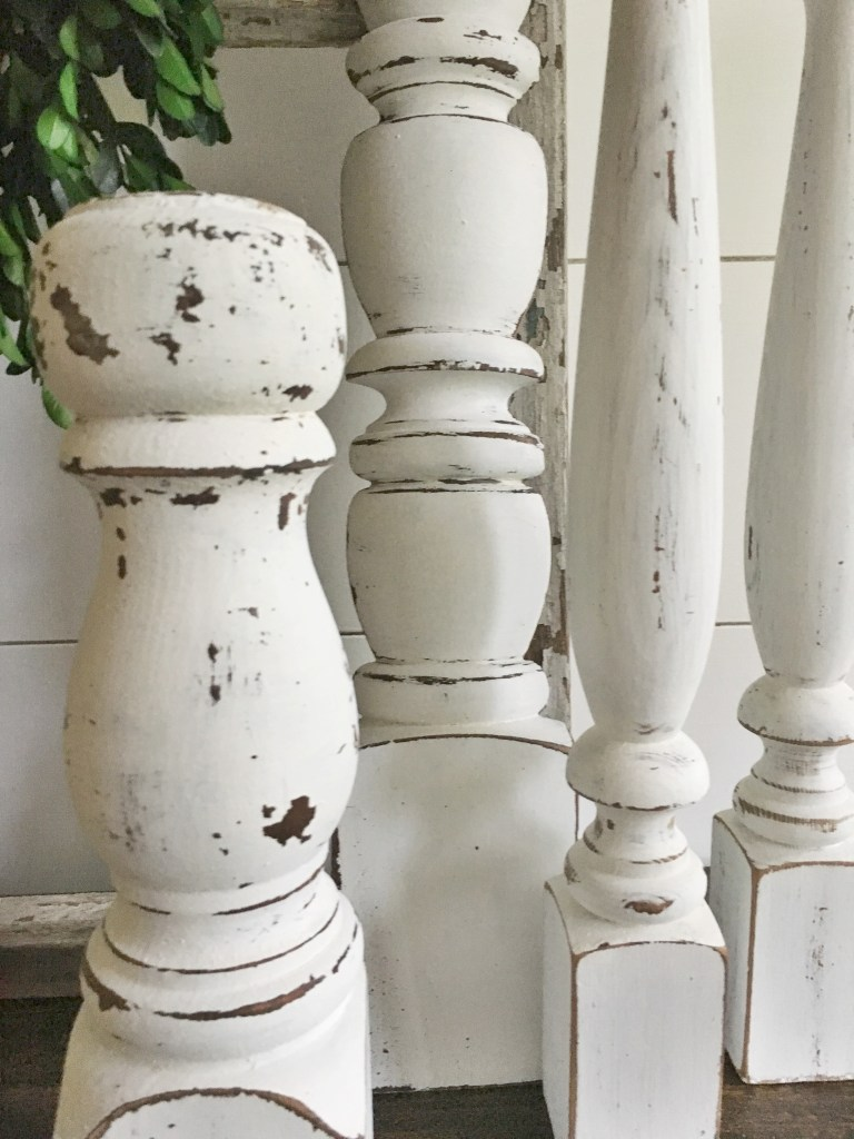 I am answering common questions about the difference between chalk paint vs milk paint, such as which is better, what to use when, and how to create a chippy look.