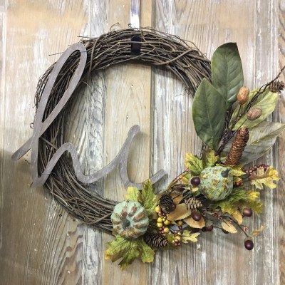 Super Easy Fall Wreath DIY