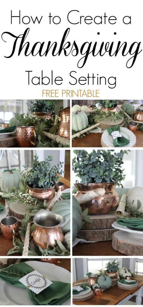 Learn how to create an easy Thanksgiving table setting on a tight budget and for any decor style. Two free printables included.