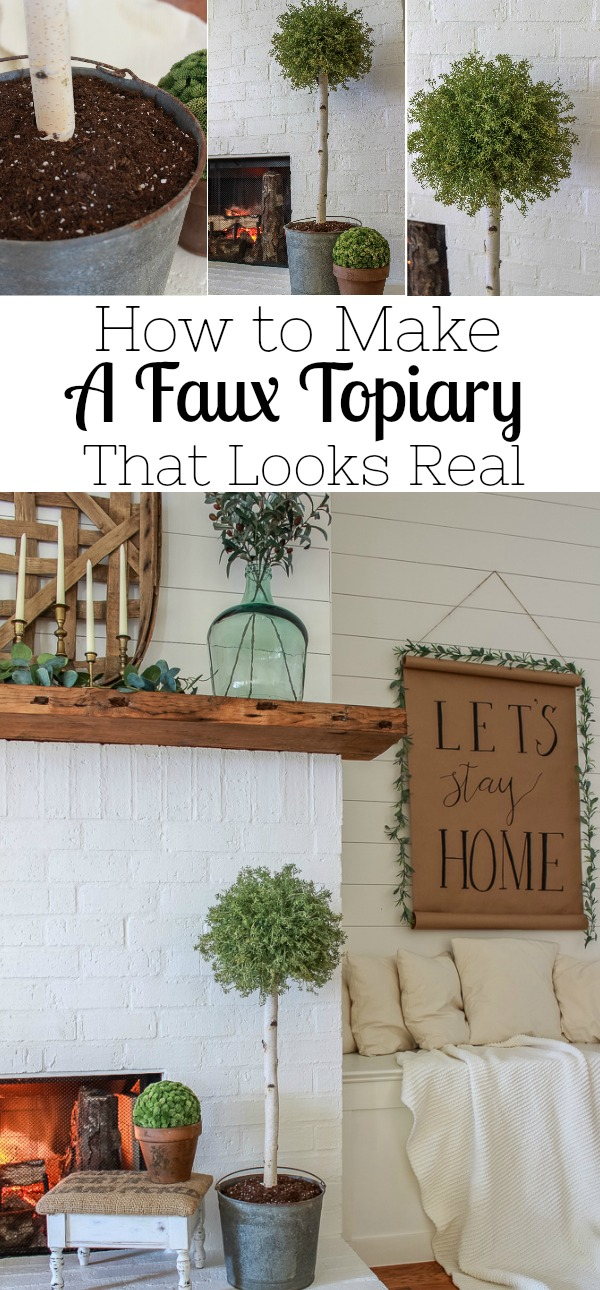 A step by step tutorial on how to make a faux topiary that actually looks real. This is the perfect black for those with a black thumb.