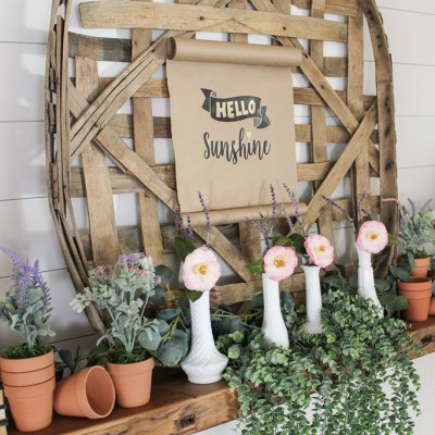 How to Style a Farmhouse Easter Mantel