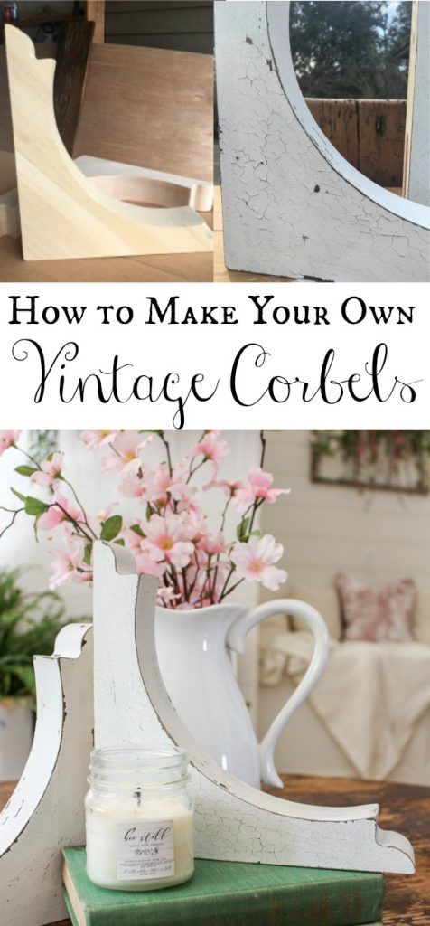 Learn how to create the vintage corbel look without having to pay hundreds of dollars. This is a simple technique using milk paint and a resisting agent.